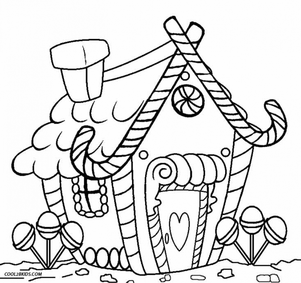 Christmas Candy Coloring Page Printable