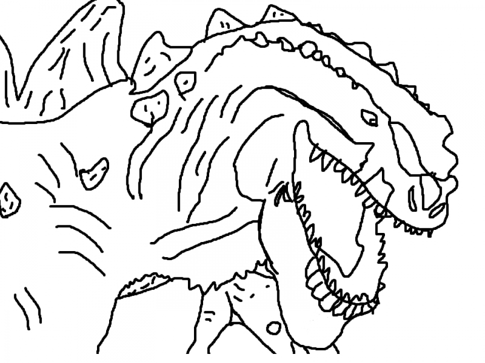 kids printable godzilla coloring pages free online cixto