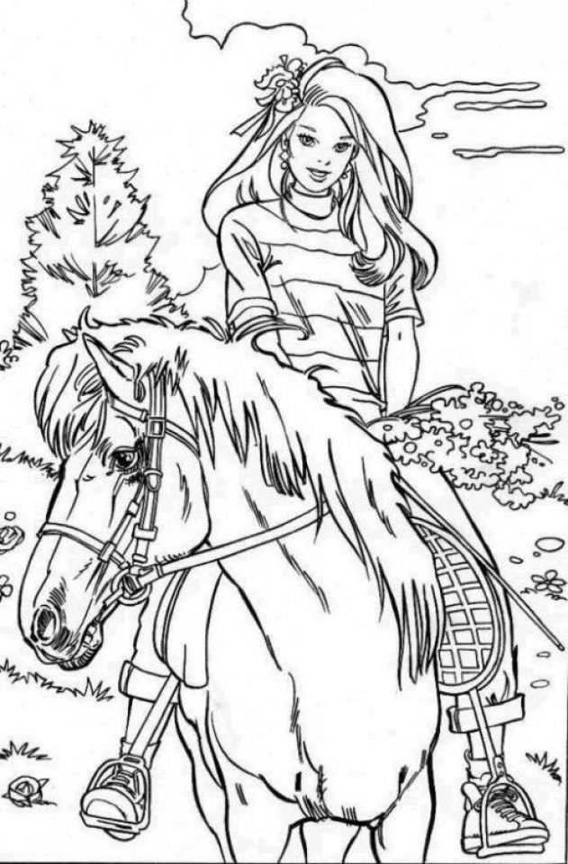 Get This Kids' Printable Horses Coloring Pages Free Online CIxtO !