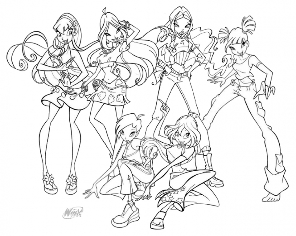 Kids Printable Winx Club Coloring Pages X4lk2