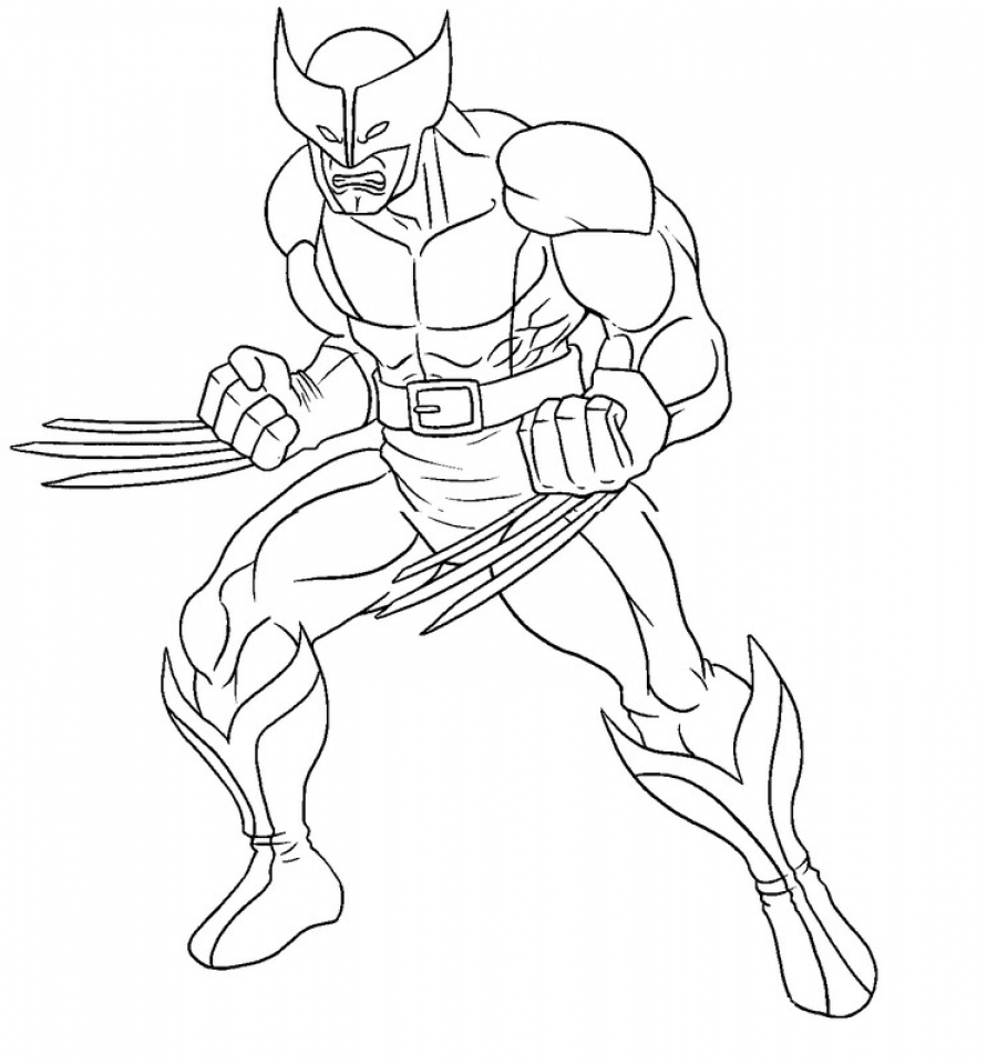 Kids' Printable Wolverine Coloring Pages   uNrZj