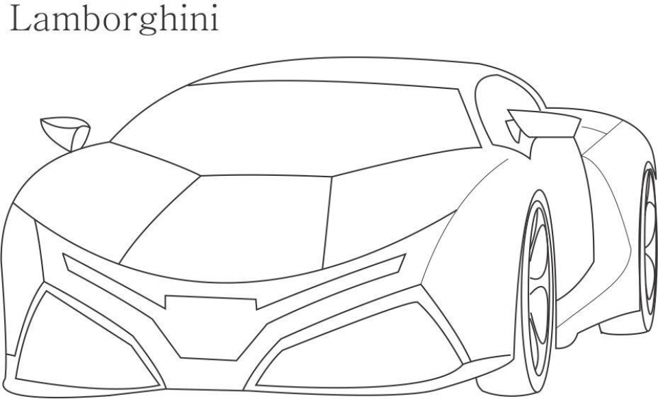 Lamborghini Coloring Pages Free Printable 66396