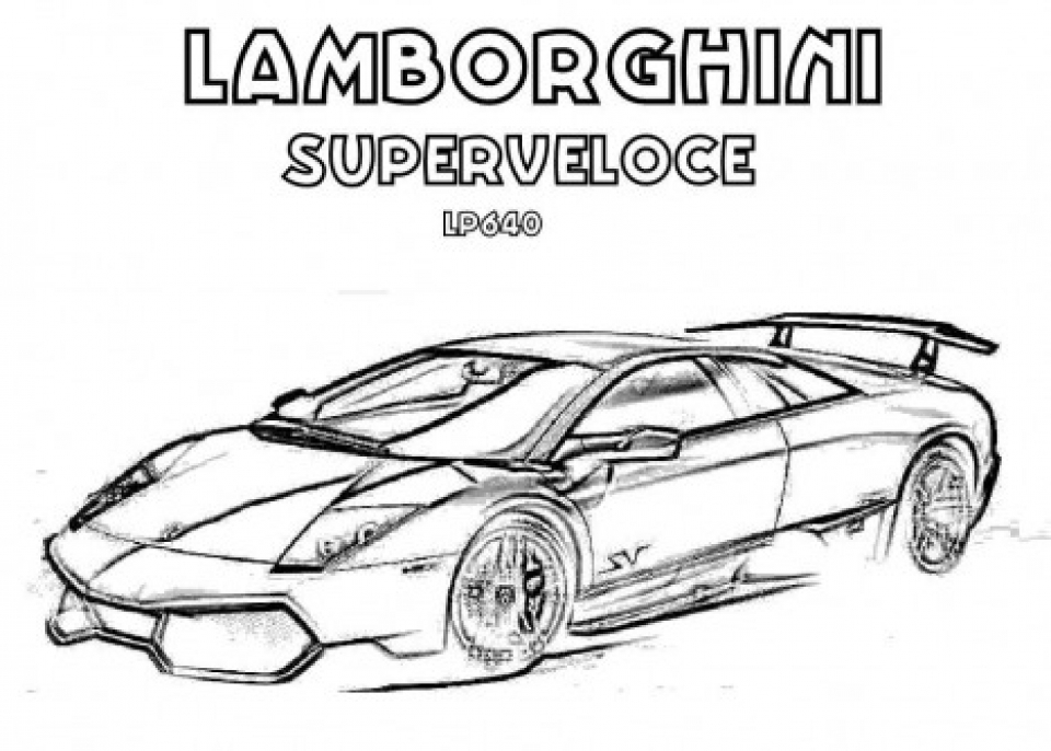 91 Lamborghini Coloring Pages