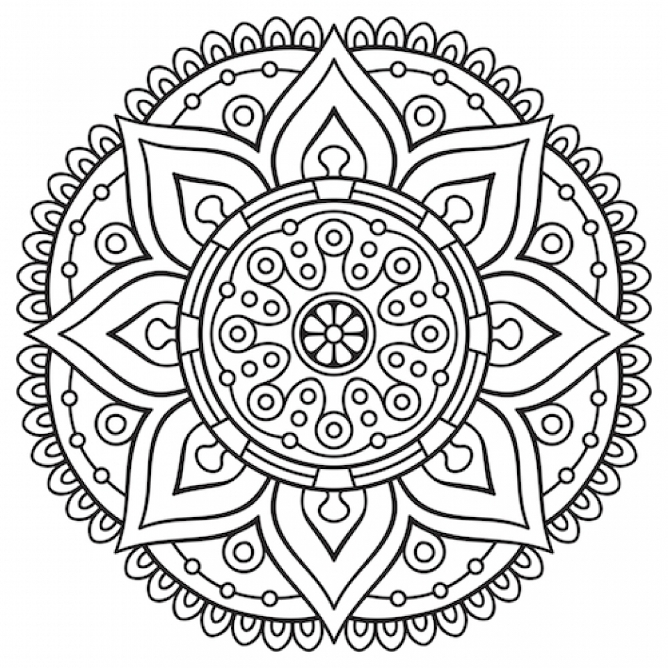 Get This Mandala Coloring Pages