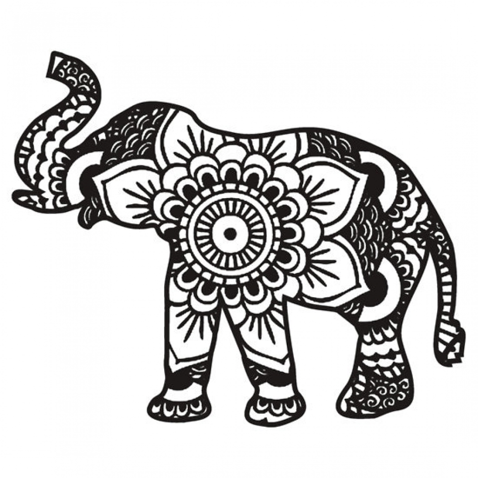 Get this mandala elephant coloring pages 3g89mnj2 Coloring book elephant