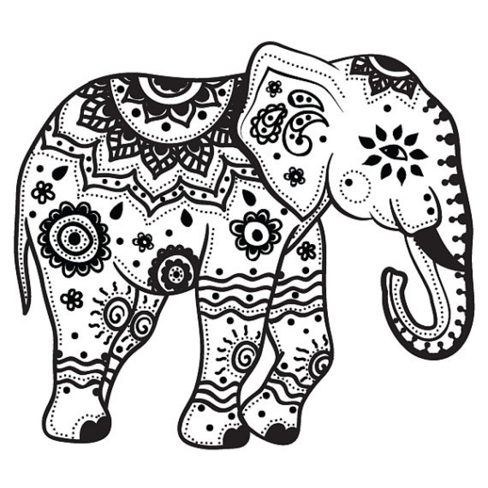 Get This Mandala Elephant Coloring