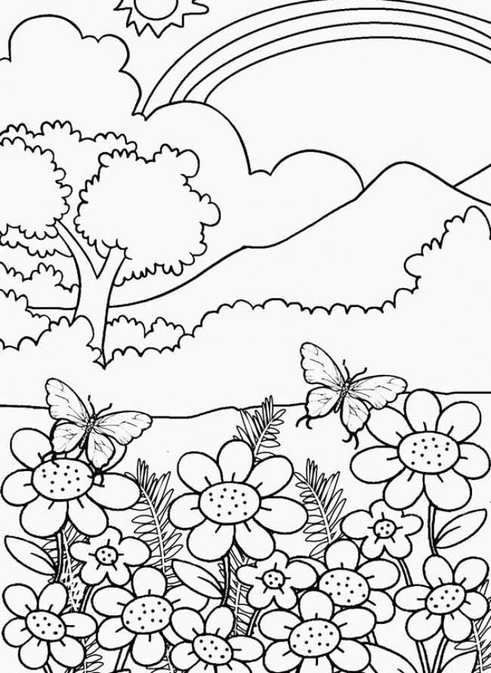 pictura coloring nature pages - photo#30