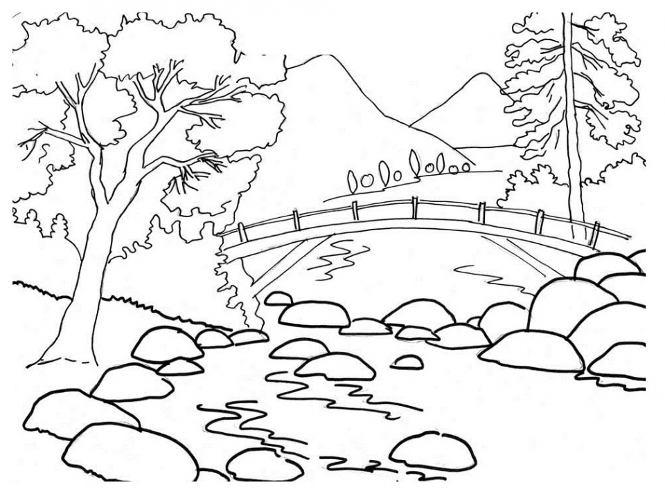 Get This Nature Coloring Pages Printable for Kids r1n7l !