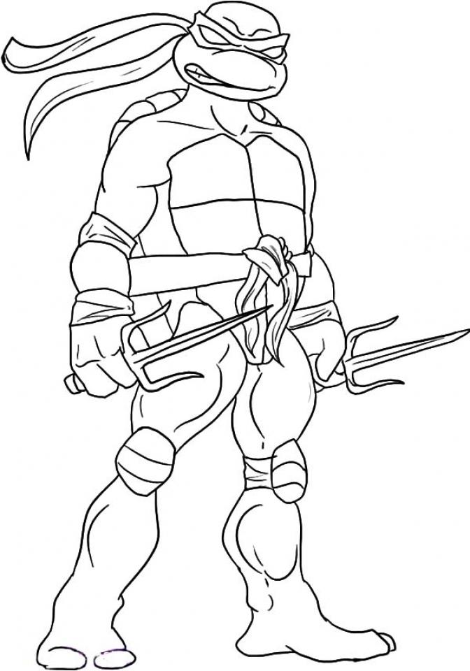 Get This Ninja Turtle Coloring Page Free Printable 11070