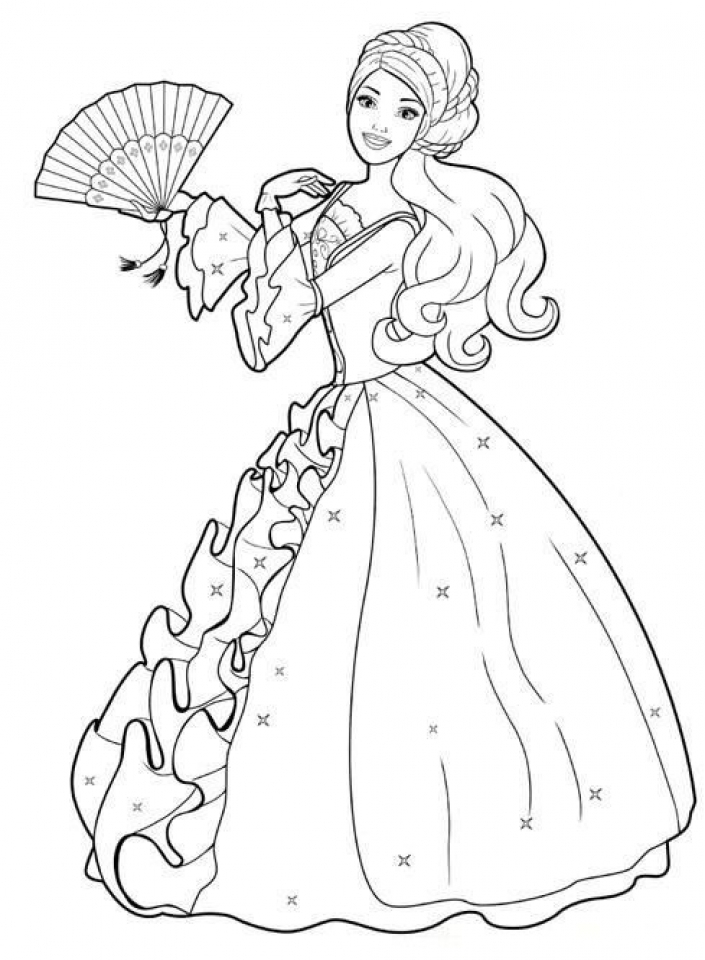 20 Free Printable Barbie Coloring Pages