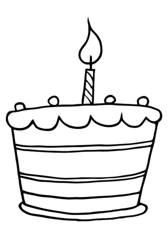Get This Online Birthday Cake Coloring Pages 88275