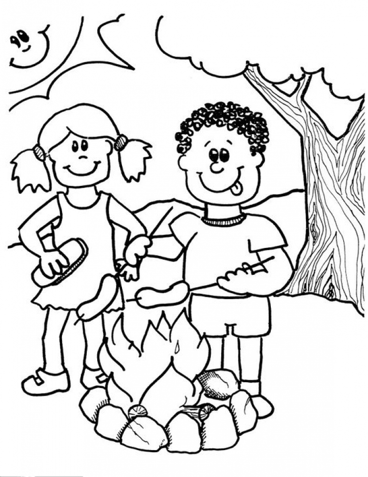 online camping coloring pages 61800 - Camping Coloring Pages