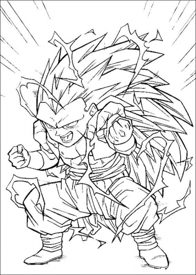 online dbz coloring pages 60096 - Dbz Coloring Pages