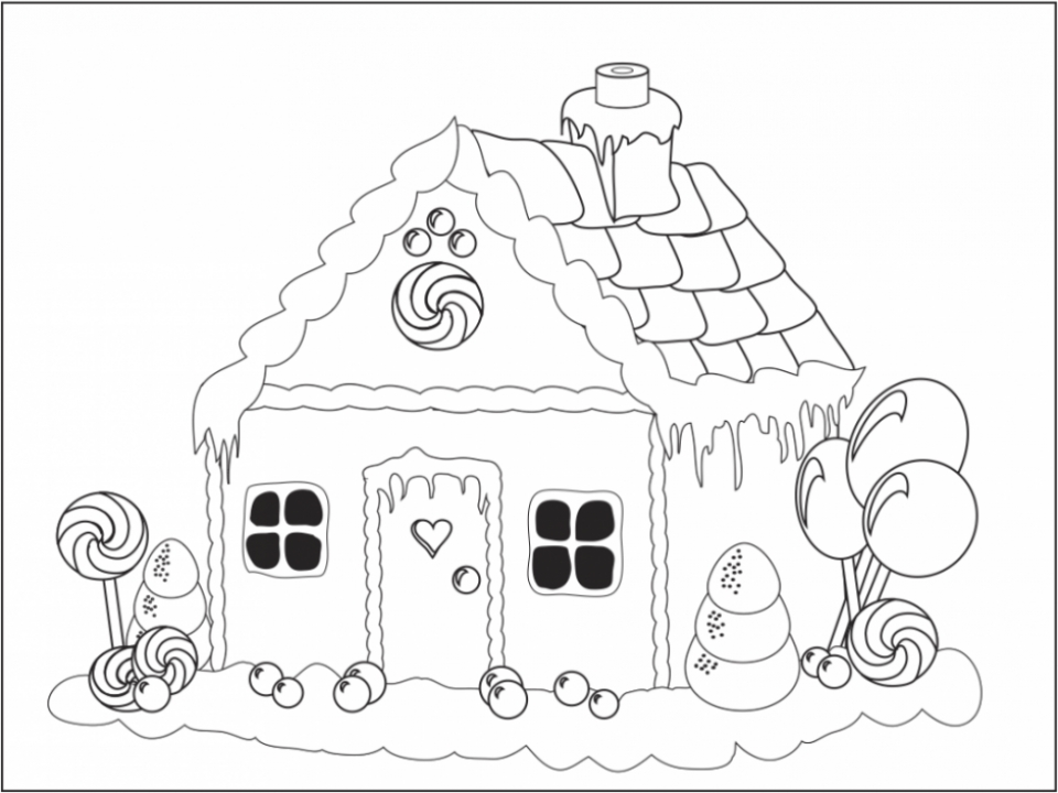 Get This Online Gingerbread House Coloring Pages for Kids 8QgDr