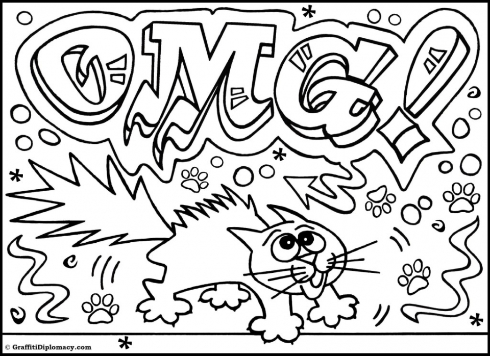 coloring graffiti pages online - photo#4