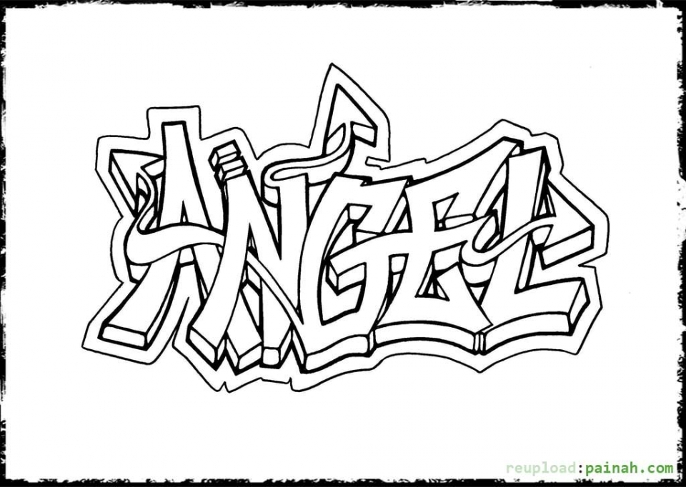 coloring graffiti pages online - photo#12