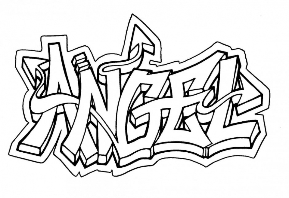 Get This Online Graffiti Coloring Pages 88361 !