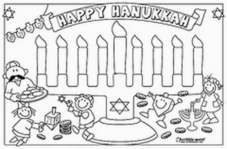 mini coloring pages of hanukkah - photo#16