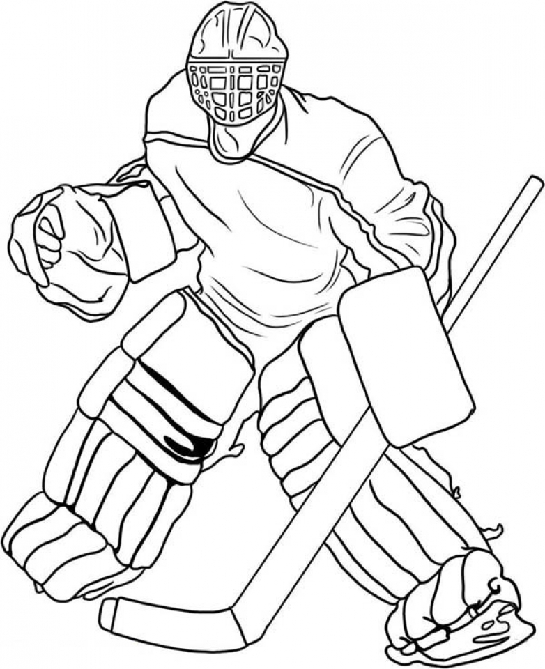 Get This Online Hockey Coloring Pages 61800