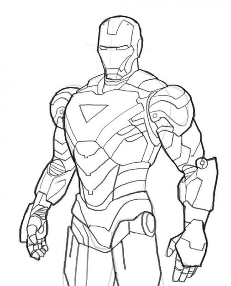 Get This Line Ironman Coloring Pages