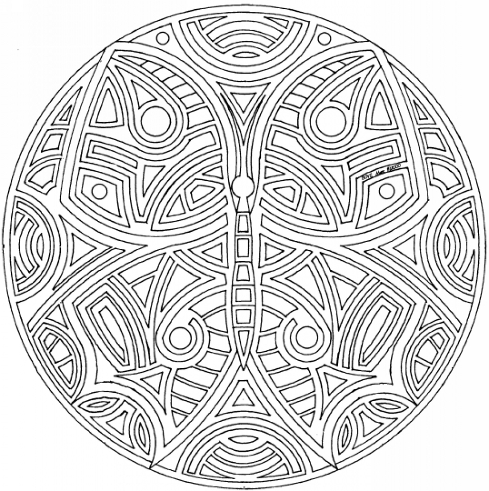 Rainbow mandala coloring pages - Online Mandala Coloring Pages For Adults 88361