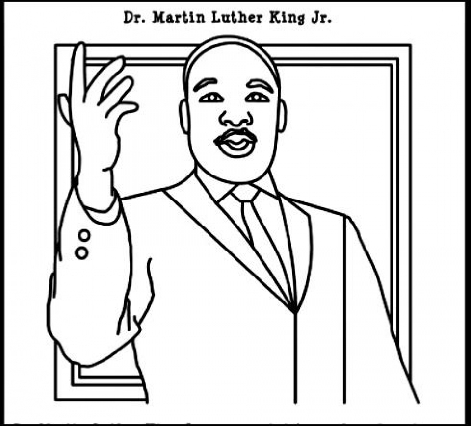 Coloring pictures martin luther king jr - Online Martin Luther King Jr Coloring Pages To Print Swsyq