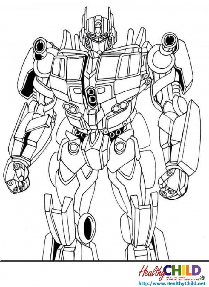 Online Optimus Prime Coloring Page To Print Swsyq Free Preschool Martin Luther King Jr