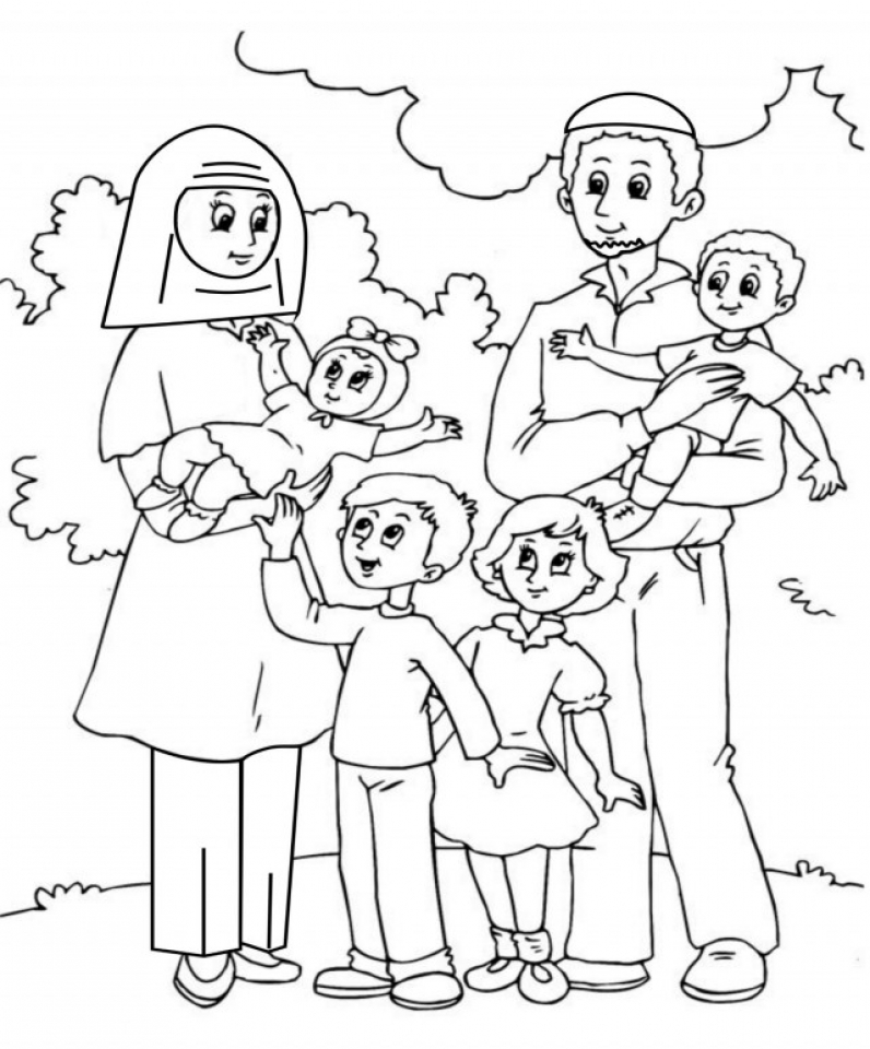 free online family coloring pages - photo#10