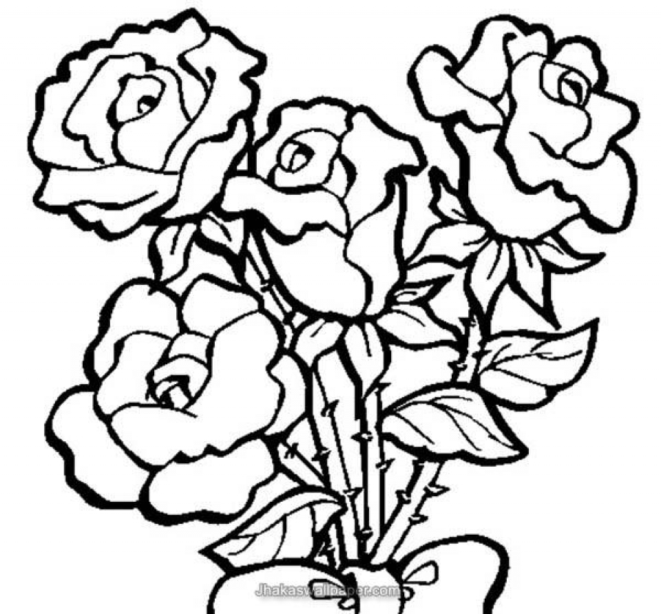 Get this online roses coloring pages for adults 88275 for Coloring pages roses