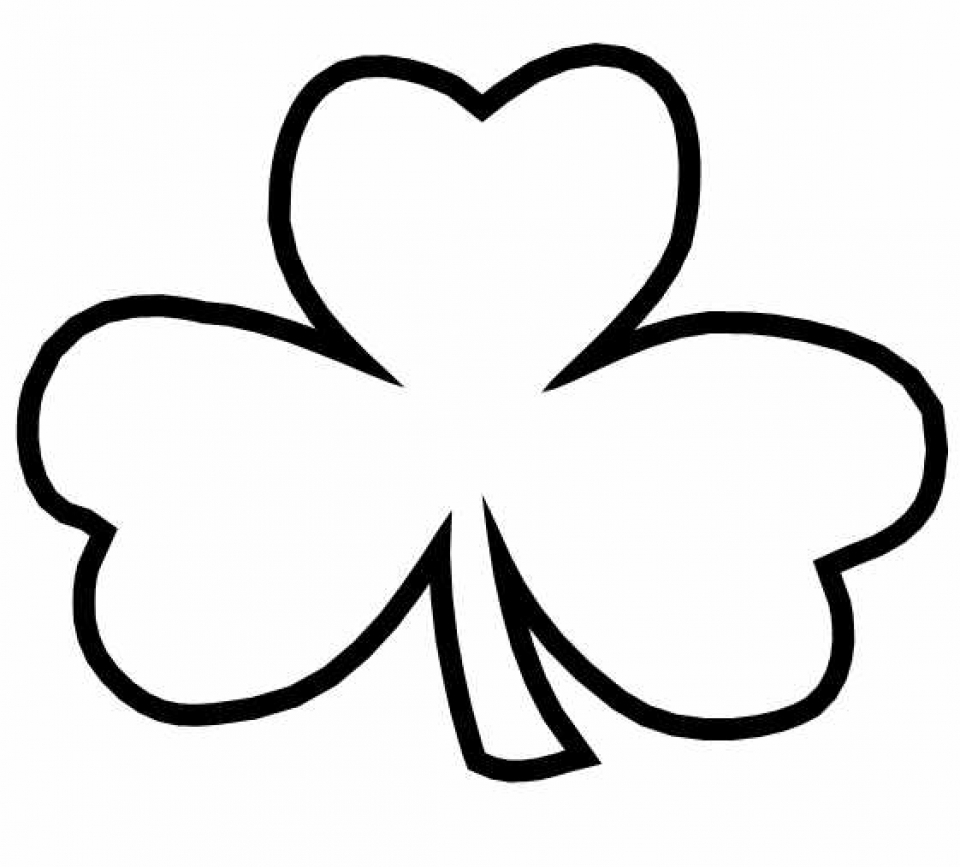 Stunning Shamrock Coloring Sheet Contemporary Coloring Page