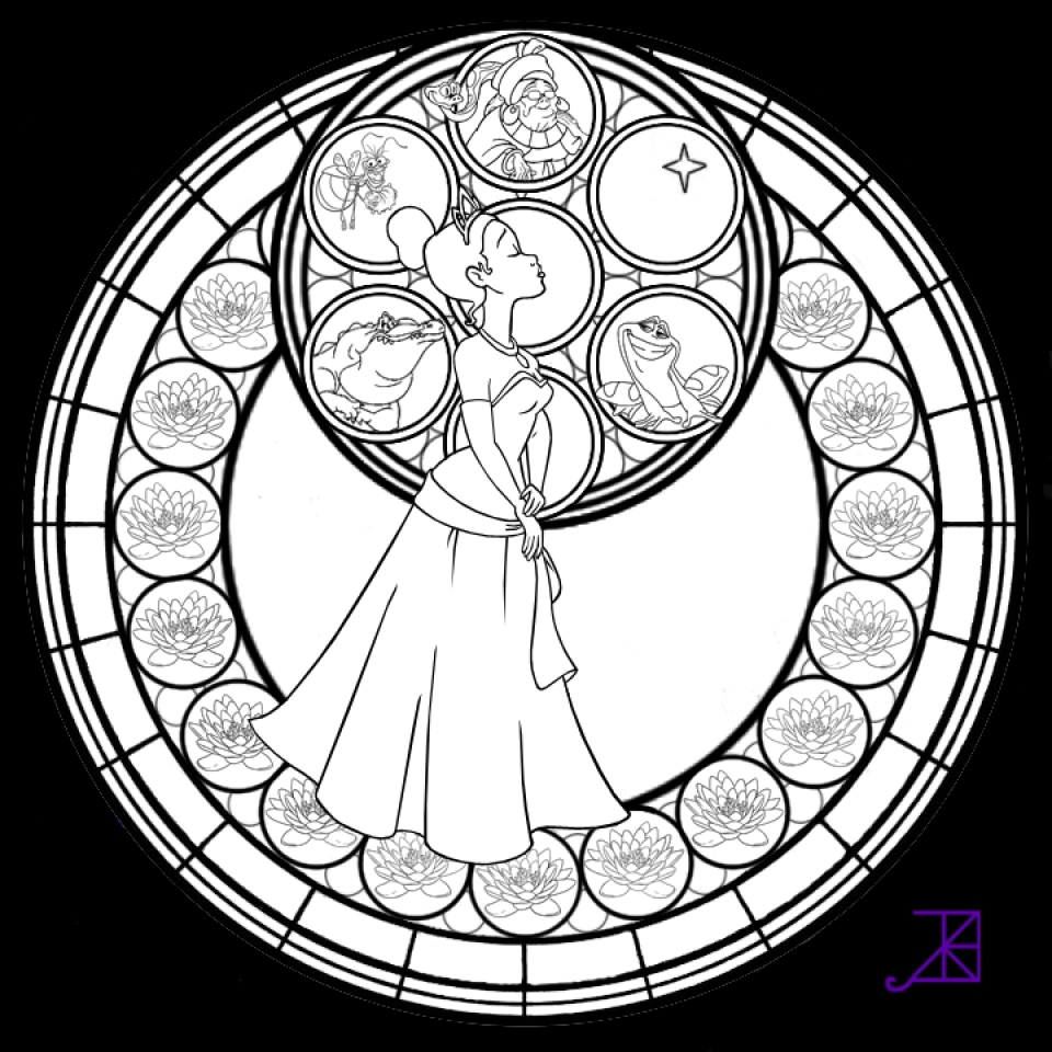 online stained glass coloring pages - photo#22