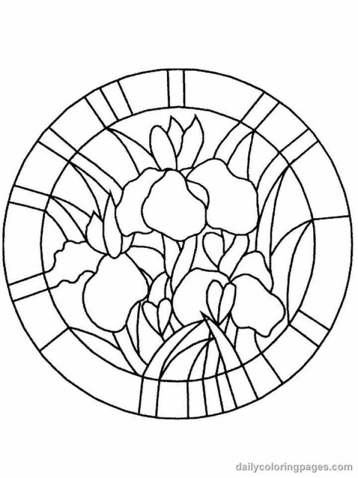 Get This Online Stained Glass Coloring Pages 34136