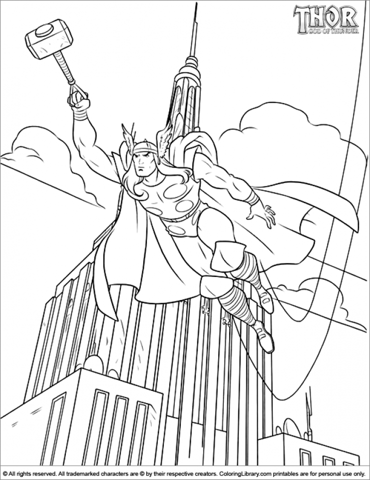 Get This Online Thor Coloring Pages 17433