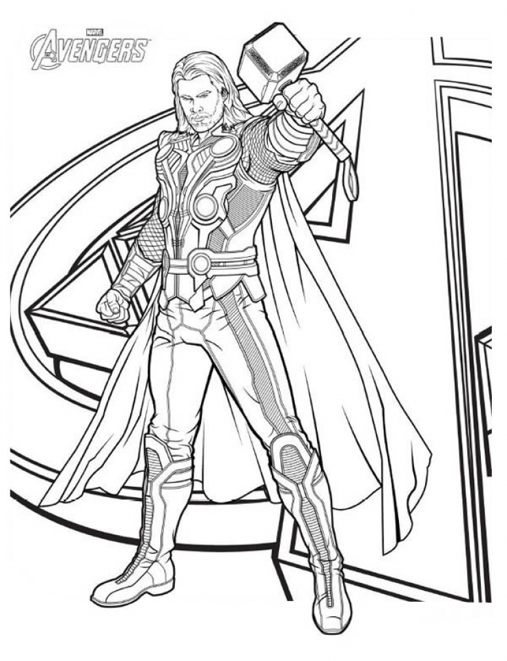 Get This Online Thor Coloring Pages 60096