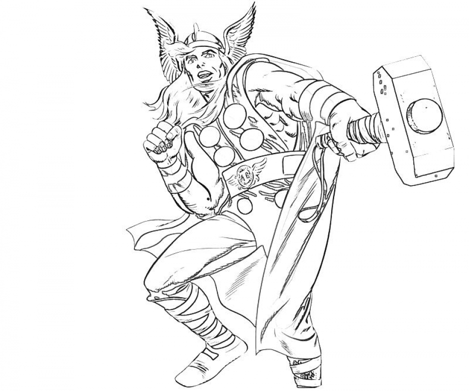 95 Thor Coloring Pages Online