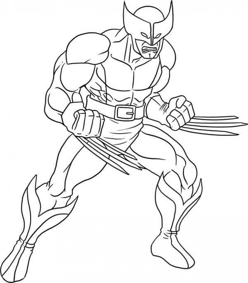 Get This Online Wolverine Coloring Pages For Kids 8QgDr
