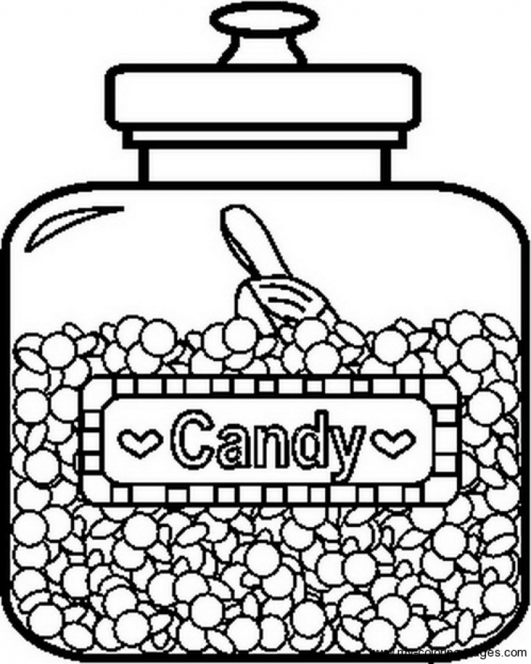 Get this picture of candy coloring pages free for children for Candy color pages