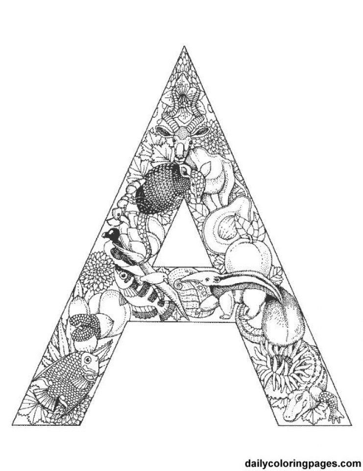 Get This Picture Of Letter Coloring Pages Free For