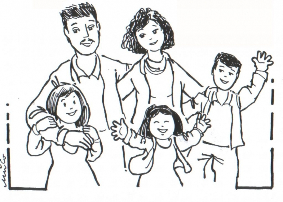 my family coloring pages for preschoolers coloring page