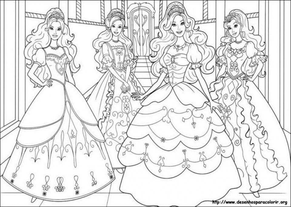 preschool printables of barbie coloring pages free b3hca - Barbie Coloring Page