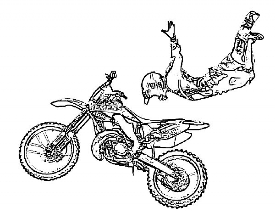 dirtbike coloring pages - photo#31