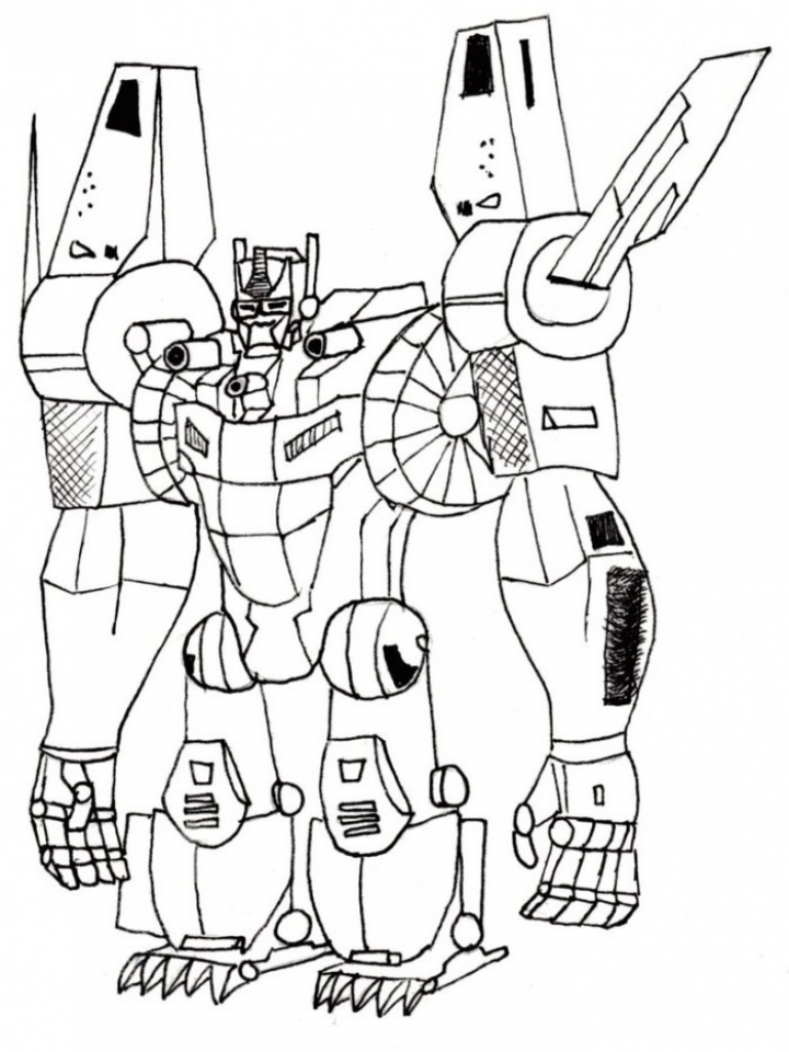 Get This Preschool Printables of Optimus Prime Coloring Page Free