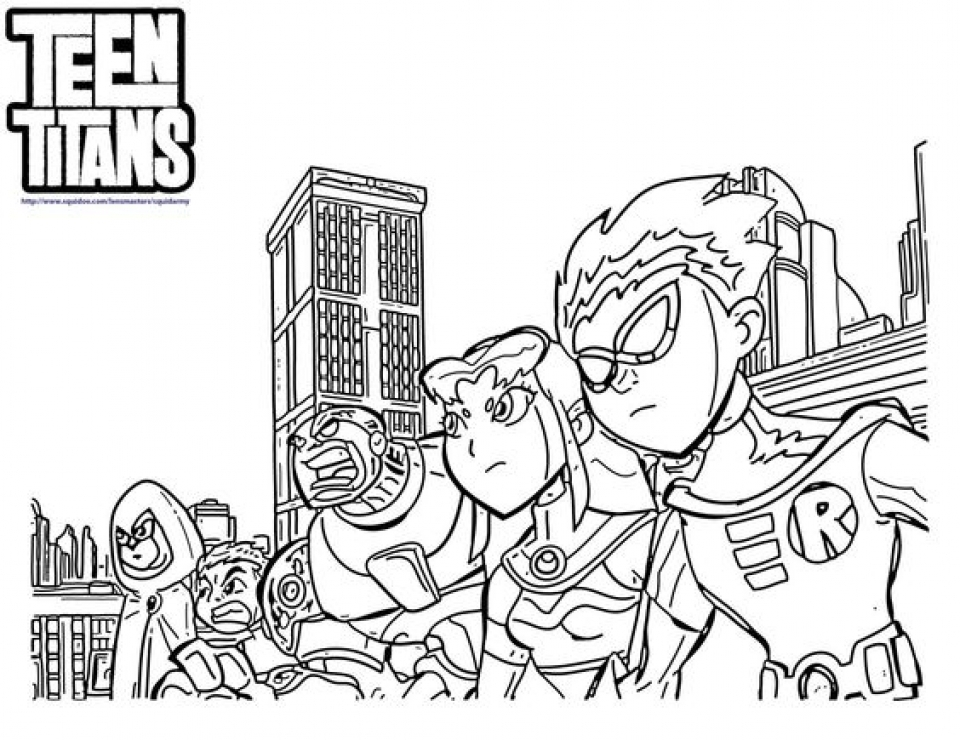 Get This Preschool Printables of Teen Titans Coloring Pages Free
