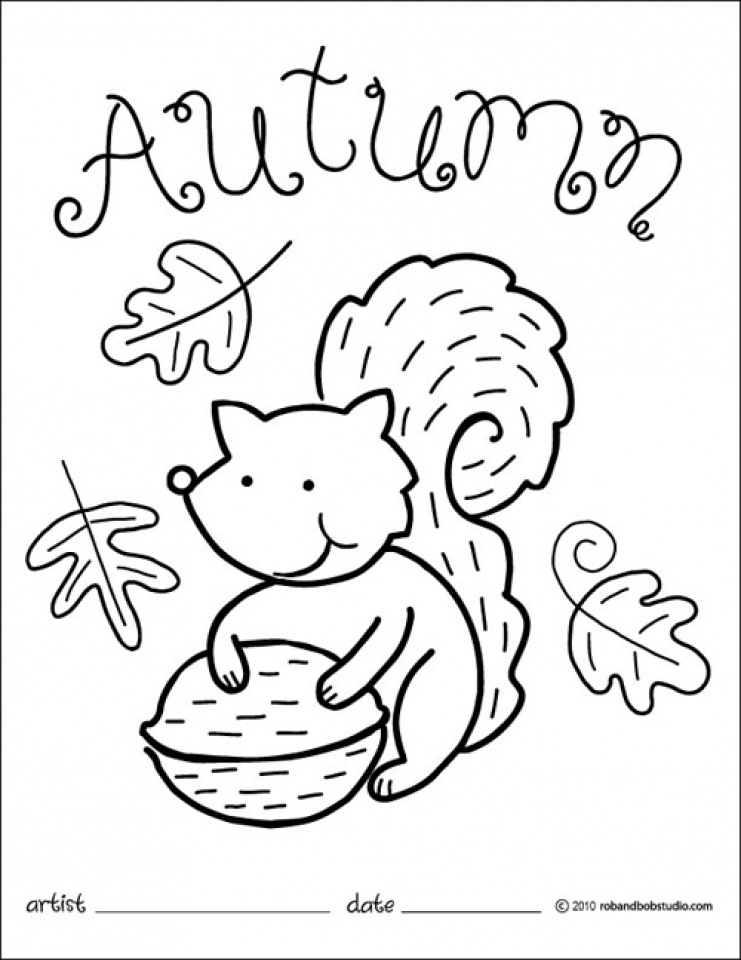 Get This Printable Autumn Coloring Pages Online 85256