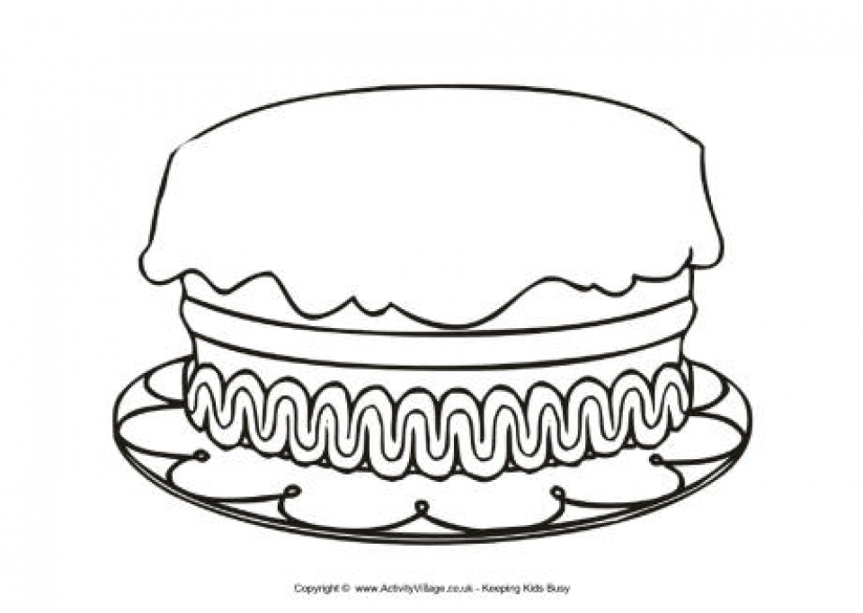 birthday cake coloring page - get this printable birthday cake coloring pages online 85256