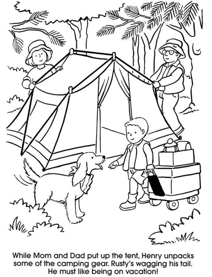 Get This Printable Camping Coloring
