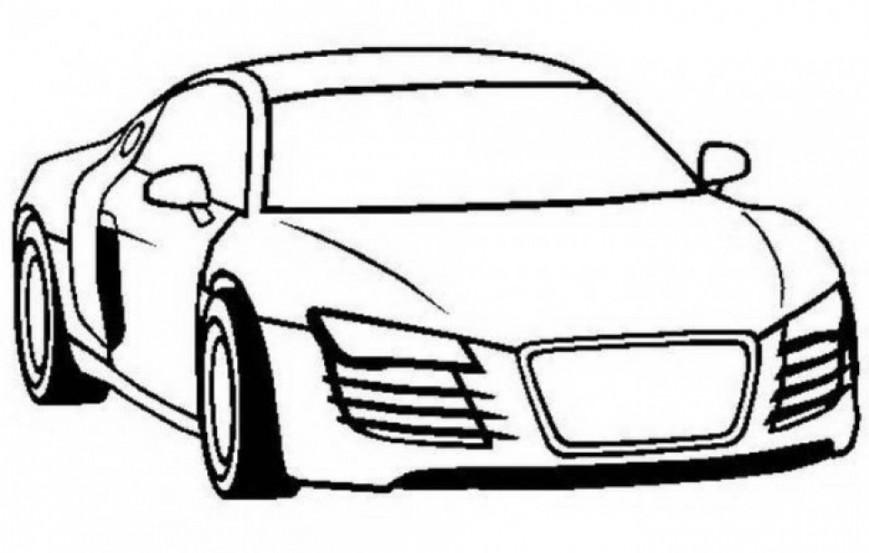 Get This Printable Car Coloring Page 70550