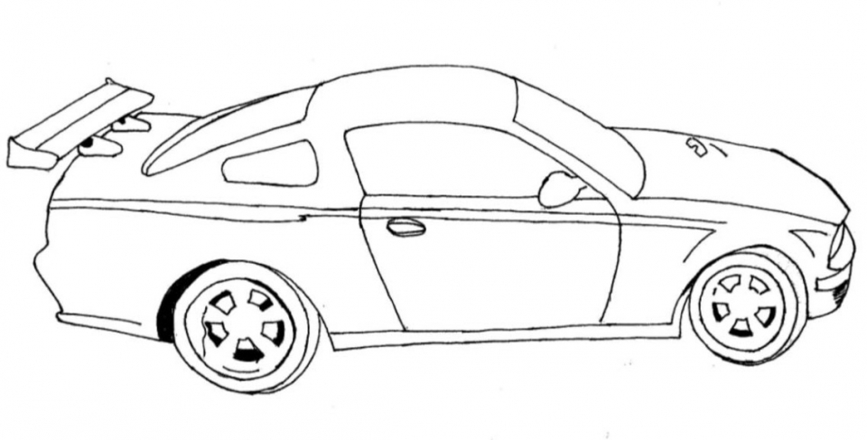 Printable Car Coloring Page 78757