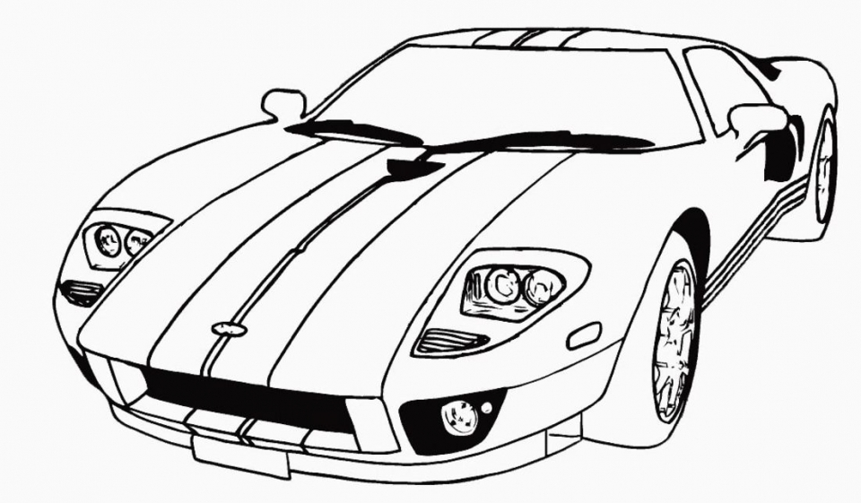 Get This Printable Car Coloring Page Online 21065 !