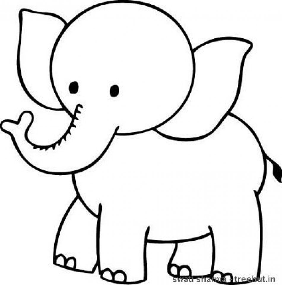 Get This Printable Elephant Coloring